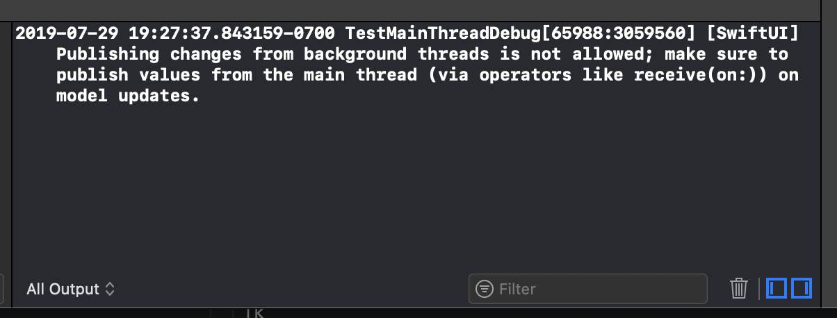Catch SwiftUI model updates from bad threads before they
